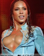 Alicia Keys Nip Slip Public Naked Fake 001