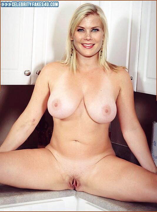 Alison Sweeney Big Tits Legs Spread Fake  Celebrity Fakes 4U-1188
