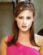 Alyssa Milano Facial Naked 001