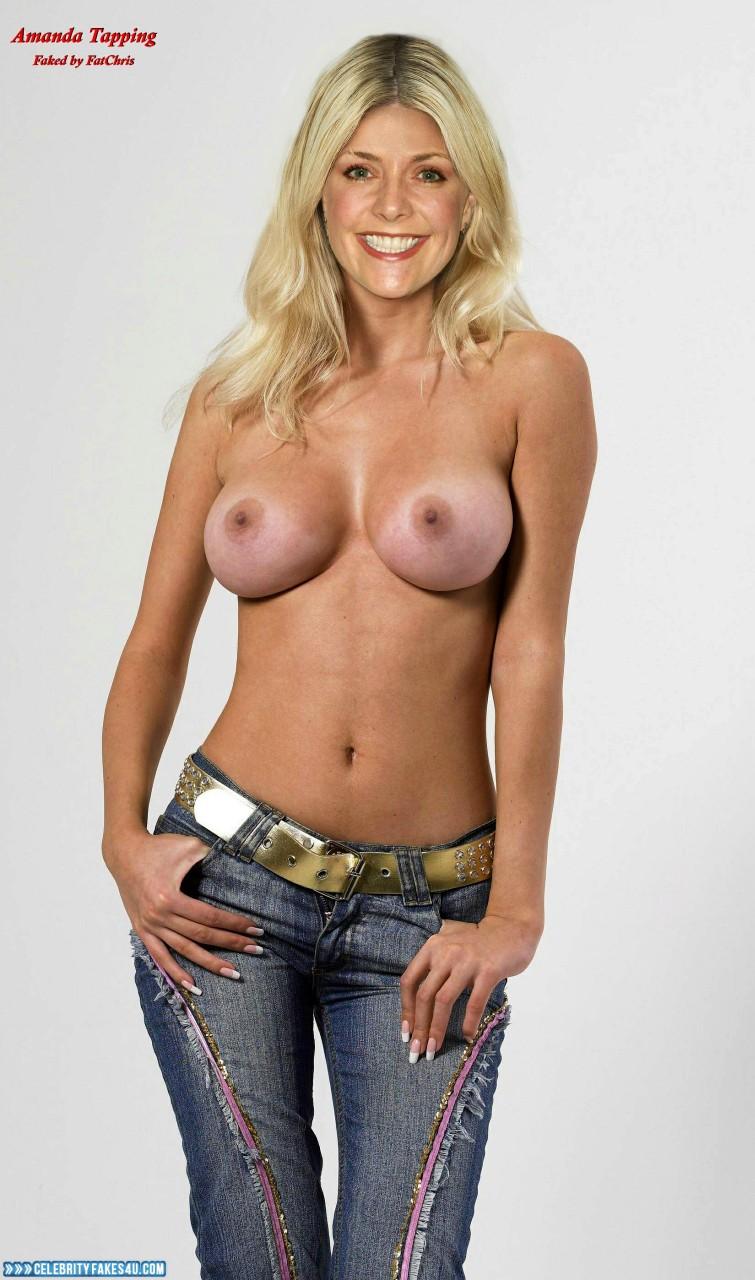 Amanda Tapping Fake, Tits, Topless, Porn