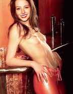 Amy Acker Topless Fake-005