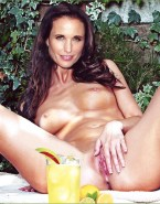 Andie MacDowell Playing With Her Wet Pussy Outdoors Fake