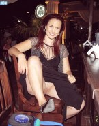 Andie MacDowell Upskirt Pussy Shot At The Bar Public Nudity Fake