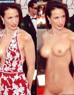 Andie MacDowell Naked On The Red Carpet Fake