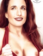 Andie MacDowell Exposes Her Nipples Fake