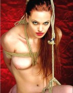 Angelina Jolie Boobs Squeezed Bondage Naked 001