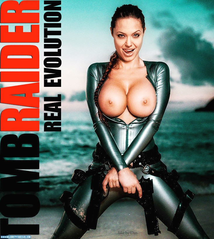 Angelina Jolie Fake, Big Tits, Series, Tits, Tomb Raider, Porn