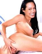 Angelina Jolie Horny Spread Pussy Nude 001