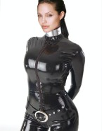 Angelina Jolie Hot Outfit Latex 003