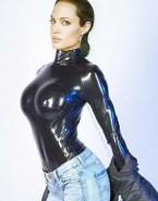 Angelina Jolie Hot Outfit Latex Naked 002