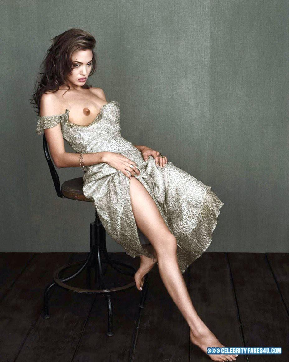 Angelina Jolie Fake, Nude, Sexy Legs, Tits, Porn