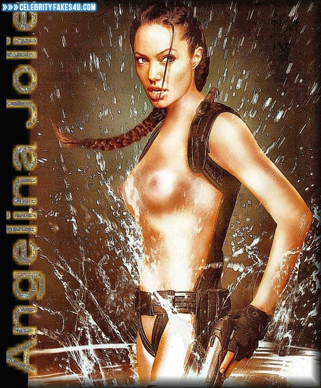Angelina Jolie Fake, Cartoon, Nude, Series, Tits, Tomb Raider, Wet, Porn