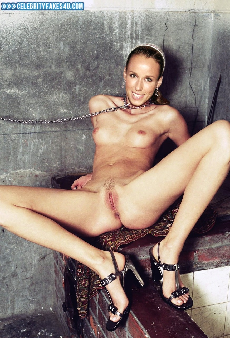 Annemarie Warnkross Fake, Completely Naked Body / Fully Nude, Legs Spread, Small Tits, Porn