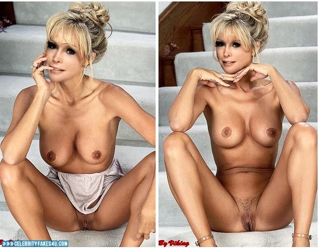 Barbara Eden Fake, Blonde, Horny, Legs Spread, Nude, Pussy, Tits, Porn