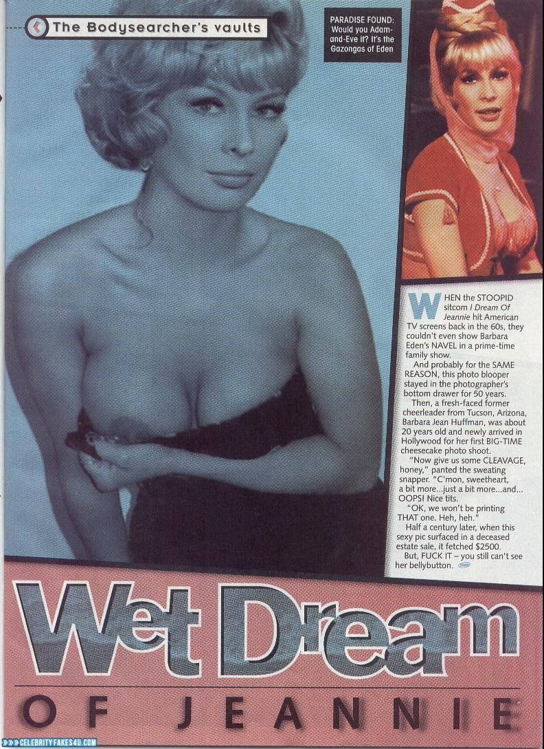 Barbara Eden Fake, Magazine Cover, Nip Slip, Tits, Porn