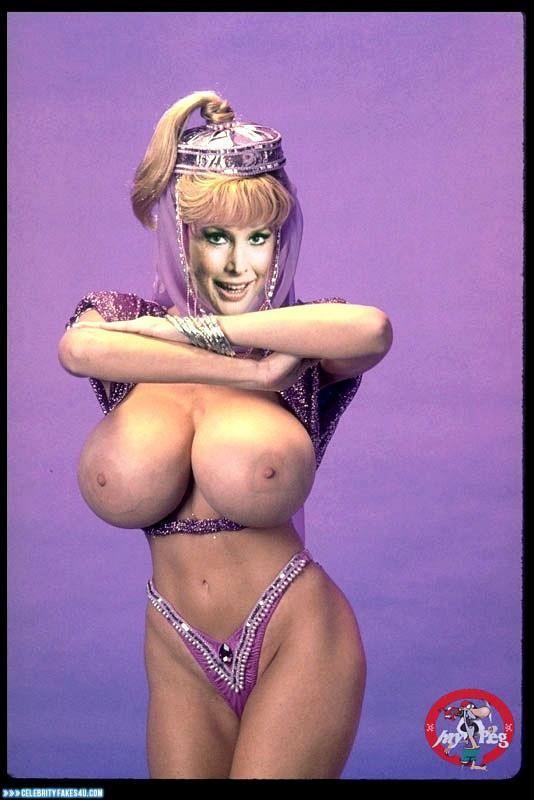Barbara Eden Fake, Huge Tits, I Dream of Jeannie (TV Series), Series, Thong, Tits, Porn