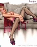 Britney Spears Cartoon Rubs Pussy Nudes 001