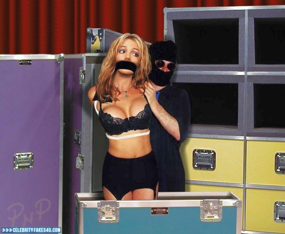 Britney Spears Fake, Bondage, Bra, Very Nice Tits, Porn