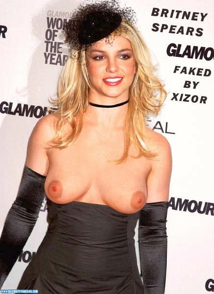 Britney Spears Fake, Public, Tits, Porn