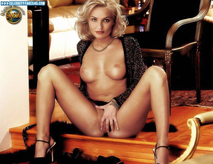 Cameron Diaz Fake, Nude, Panties Pulled Aside, Pussy, Pussy Spread, Tits, Porn