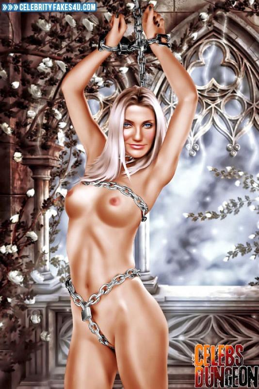 Cameron Diaz Fake, BDSM, Blonde, Bondage, Cartoon, Horny, Naked Body, Nude, Tits, Porn