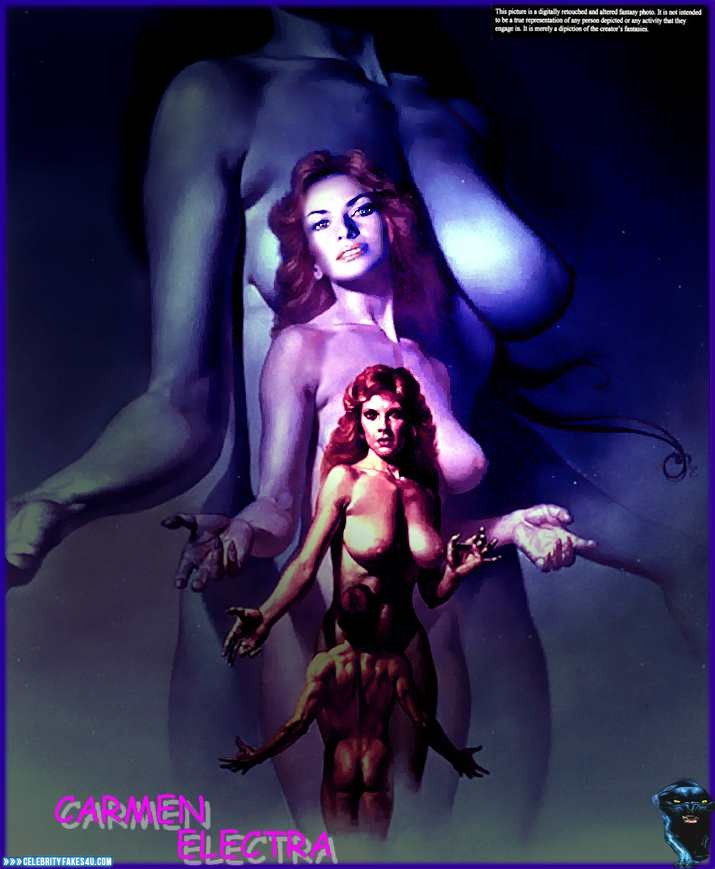 Carmen Electra Fake, Cartoon, Nude, Tits, Porn