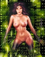 Carrie Anne Moss Toon Nude Body 001