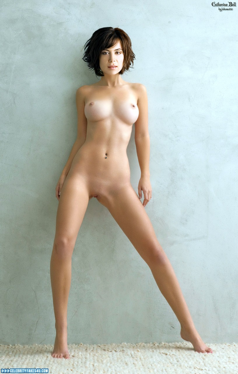 Catherine Bell Fake, Completely Naked Body / Fully Nude, Porn