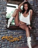 Chloe Bennet Horny Legs Spread Pussy Shot Fake 001