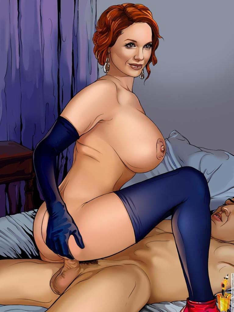 Cartoon Christina Hendricks Riding Sex Fake  Celebrity -9890