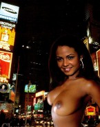Christina Milian Boobs Public Nsfw Fake 001