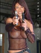 Claudia Black Lingerie Big Tits Fake 001
