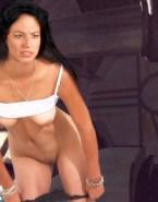 Claudia Black Panties Down Undressing Naked Fake 001