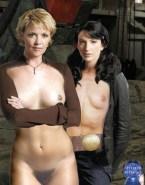 Claudia Black Tits Porn Fake 001