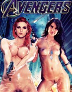 Scarlett Johansson and Cobie Smulders - Avengers Porn Fake-003