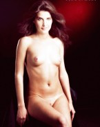 Cobie Smulders Naked Tits Fake-011