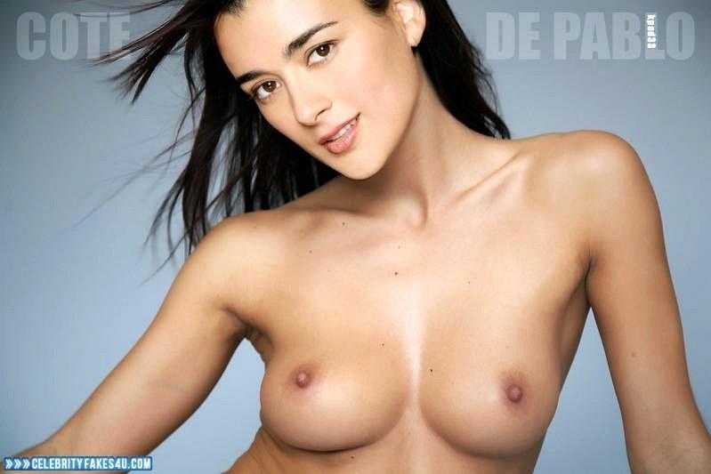 Cote De Pablo Fake, Tits, Very Nice Tits, Porn