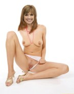Courtney Thorne Smith Tits Panties Aside Fake 001