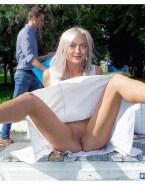Dakota Fanning Upskirt Pussy Public Naked Fake 001