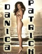 Danica Patrick Beach Boobs Squeezed 001