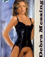 Debra Messing Lingerie Hairy Pussy Naked 001
