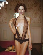 Elisabetta Canalis Naked Exposed Breasts 001