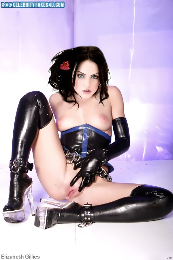 Elizabeth Gillies Fake, BDSM, Hot Outfit, Nude, Pussy, Pussy Spread, Tits, Porn
