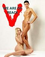 Elizabeth Mitchell Lesbian Nude Body Fake 001