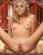 Elizabeth Olsen Tits Legs Spread Fake 001