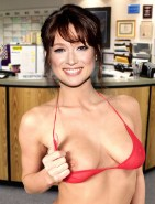 Ellie Kemper As Erin Hannon of The Office Naked Fake