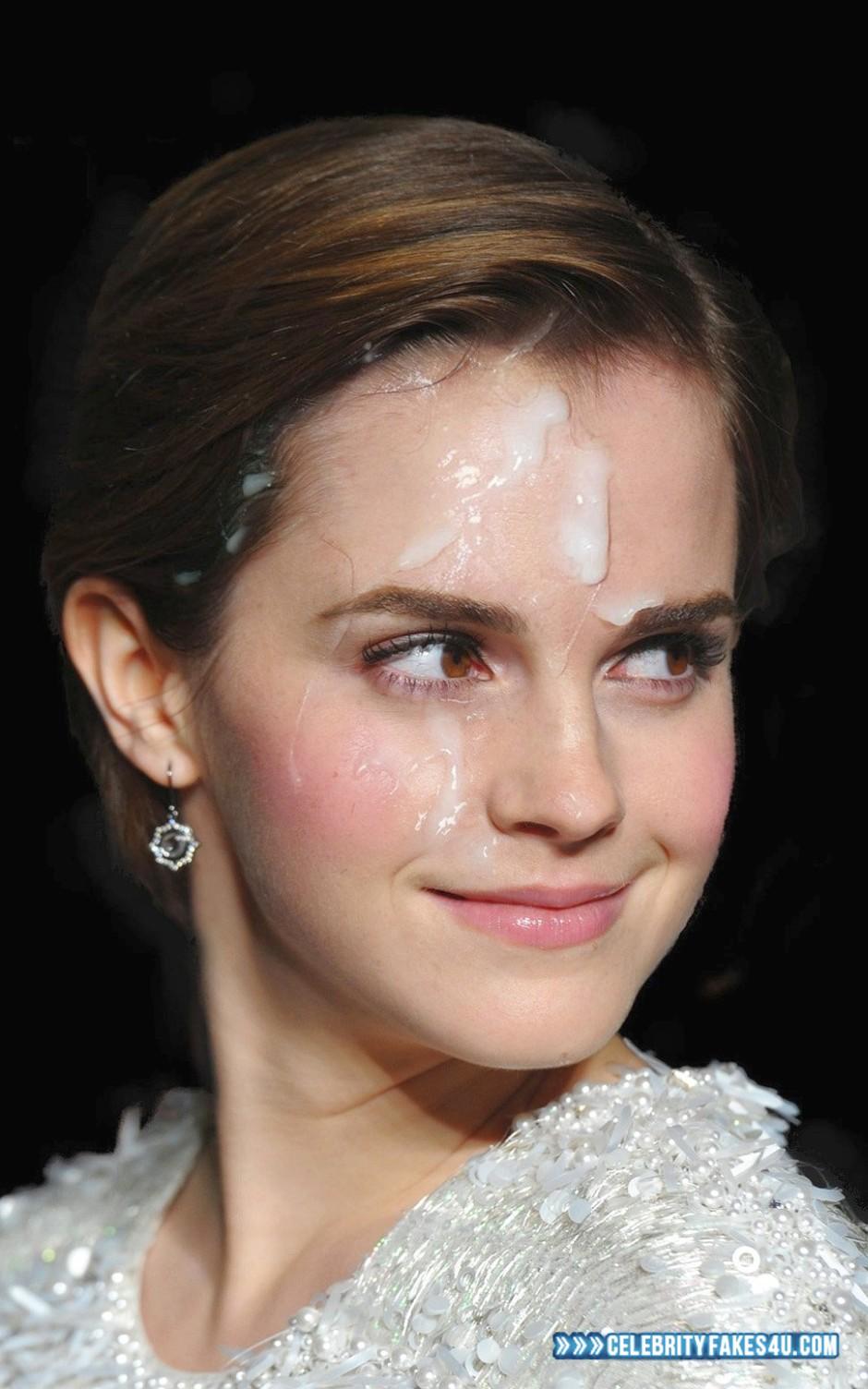 Emma Watson Cum Facial Fake 024 « CelebrityFakes4u.com