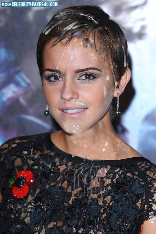 Emma Watson Fake, Body Cumshot, Cum Facial, Cumshot, Public, Porn