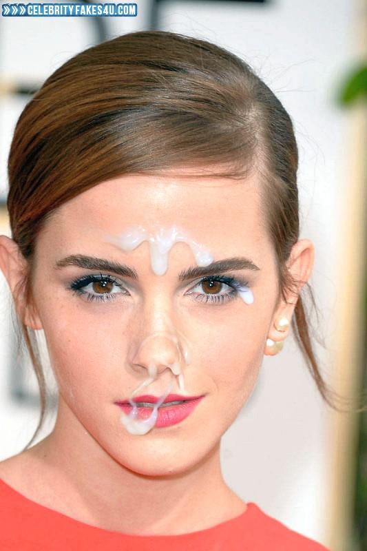 Emma Watson Fake, Cum Facial, Cumshot, Horny, Lipstick, Public, Porn