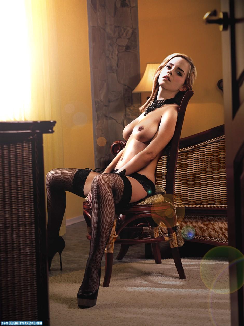 Emma Watson Fake, Horny, Nude, Stockings, Tits, Porn